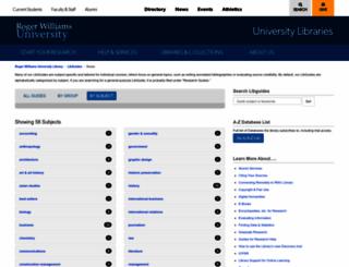 rwu.libguides.com screenshot