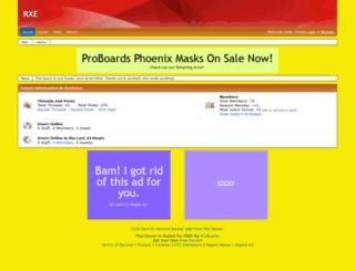 rxe.freeforums.net screenshot