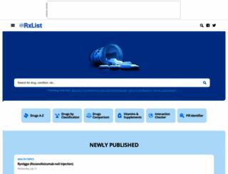 rxlist.com screenshot