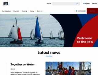 rya.org.uk screenshot