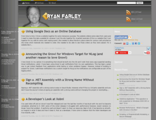 ryanfarley.com screenshot