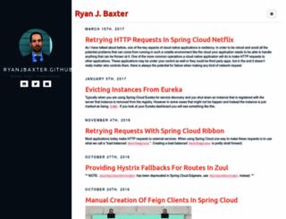 ryanjbaxter.com screenshot