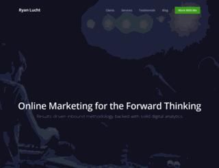 ryanluchtmarketing.com screenshot