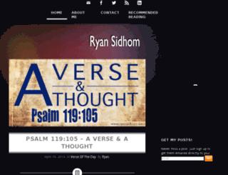 ryansidhom.com screenshot