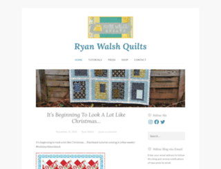 ryanwalshquilts.com screenshot