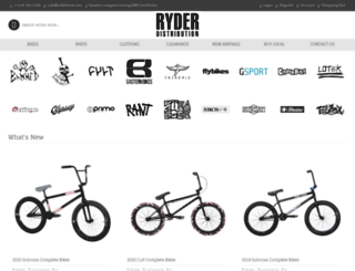 ryderbmx.com screenshot