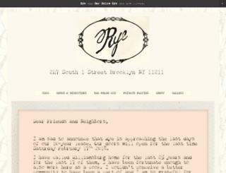 ryerestaurant.com screenshot