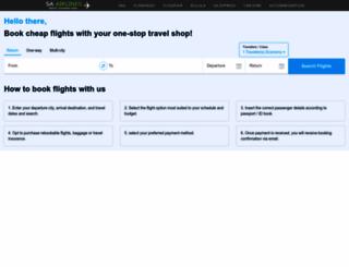 sa-airlines.co.za screenshot