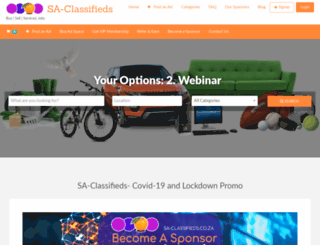 sa-classifieds.co.za screenshot
