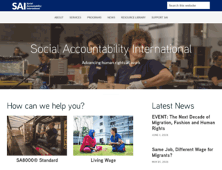 sa-intl.org screenshot
