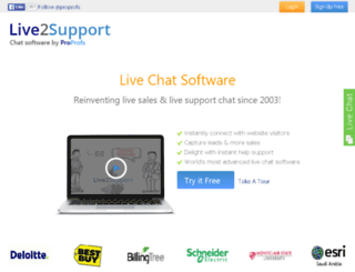 sa.live2support.com screenshot