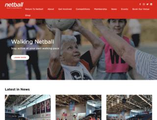 sa.netball.com.au screenshot