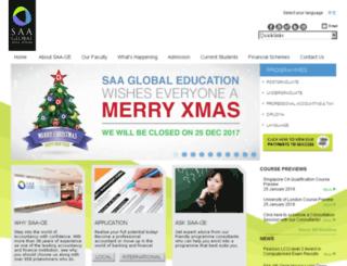 saa.org.sg screenshot
