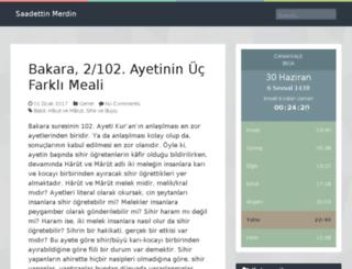 saadettinmerdin.com screenshot