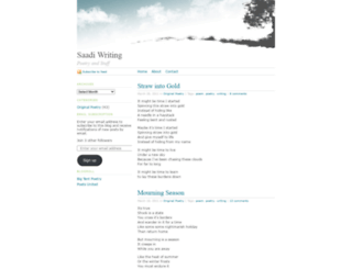 saadiwriting.wordpress.com screenshot