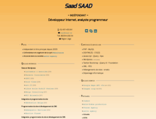 saadsoft.be screenshot