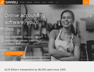 saasu.com.au screenshot