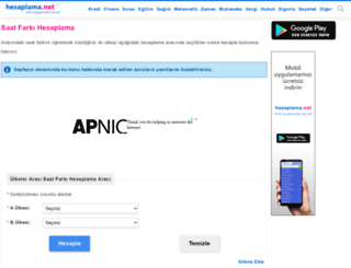 saat-farki.hesaplama.net screenshot