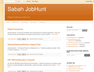sabahjobhunt.com screenshot