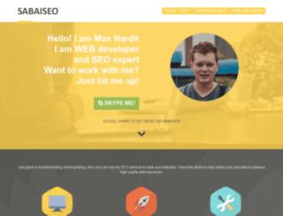 sabaiseo.com screenshot