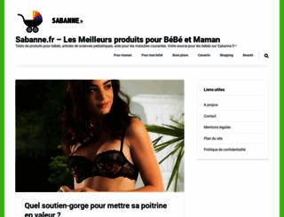 sabanne.fr screenshot