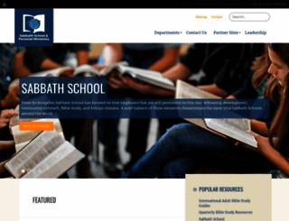 sabbathschoolpersonalministries.org screenshot