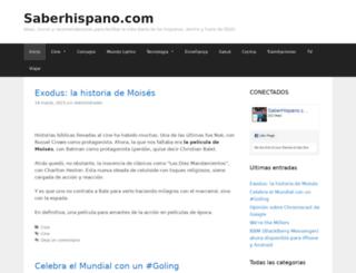 saberhispano.com screenshot