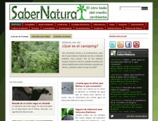 sabernatura.com screenshot