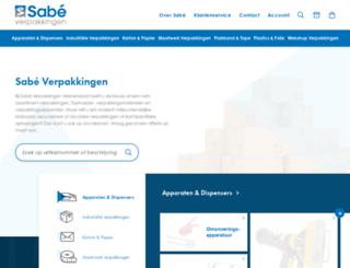 sabeverpakkingen.nl screenshot