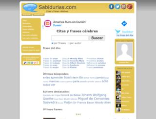 sabidurias.com screenshot