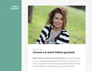 sabinaguzzanti.it screenshot