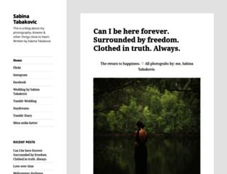 sabinatabakovic.com screenshot