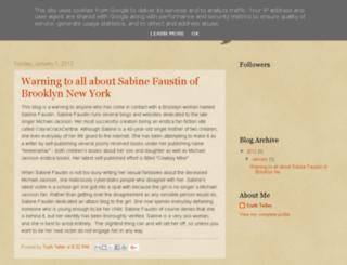 sabinefaustintruth.blogspot.it screenshot