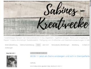 sabines-kreativecke.de screenshot
