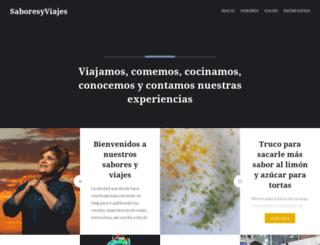 saboresyviajes.com screenshot