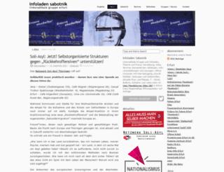 sabotnik.blogsport.de screenshot