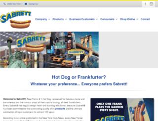 sabrett.com screenshot