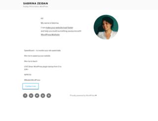 sabrinazeidan.com screenshot