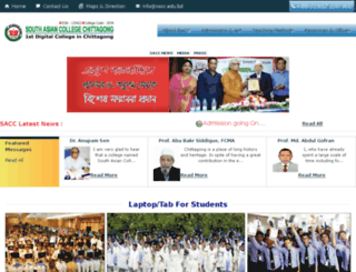 sacc.edu.bd screenshot