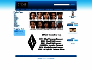 sachaworldofcosmetics.com screenshot