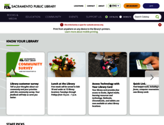 saclibrary.org screenshot