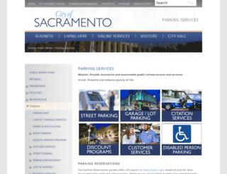 sacpark.org screenshot