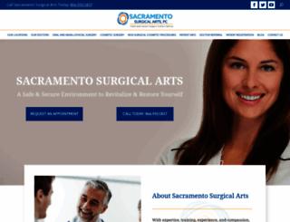 sacramentosurgicalarts.com screenshot