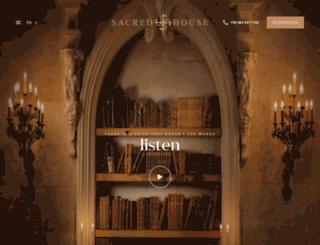 sacred-house.com screenshot