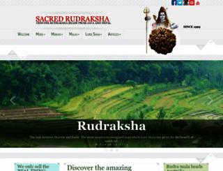 sacred-rudraksha.com screenshot