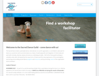 sacreddanceguild.org screenshot