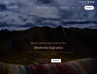 sacredlandperu.com screenshot