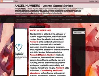 sacredscribesangelnumbers.blogspot.com screenshot