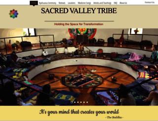 sacredvalleytribe.com screenshot