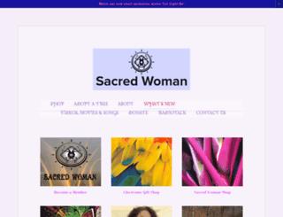 sacredwoman.org screenshot